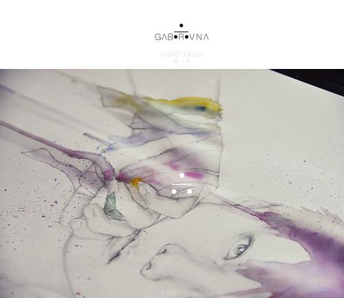 XOXO Sehun fanart - WIP