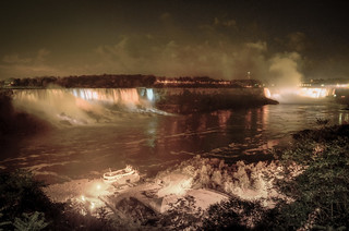 American and Canadian Niagara Falls at Night #9430