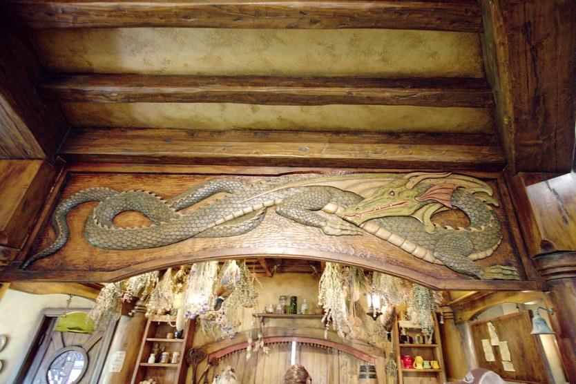 Don't forget to look up when in the Green Dragon Inn.