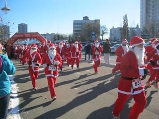 Santas running