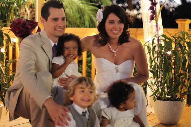 Alex, Jenn, and the kids