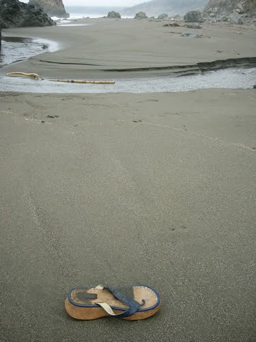 Howard Creek Ranch California - Lone Sandal (Photo by Jamie Cane)