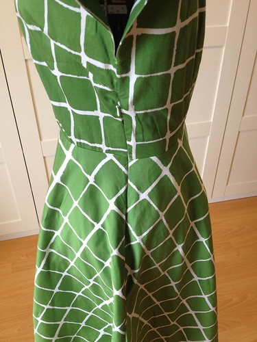 green windowpane McCalls 8858 side zip