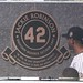 Jackie Robinson is the first player from another team to have a monument in Monument Park