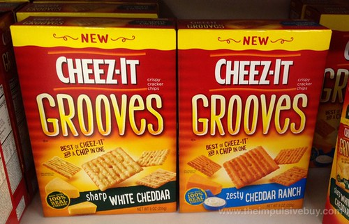 Cheez-It Grooves (Sharp White Cheddar and Zesty Cheddar Ranch)
