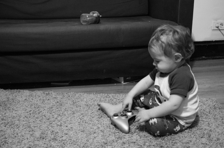 Micah trying to play XBOX