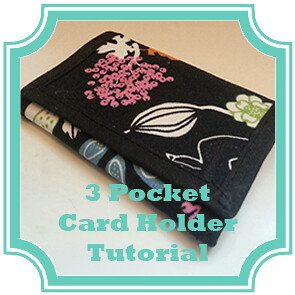 3 Card Holder Tutorial