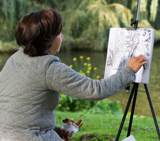 Drawing and eating in Southpark - TheHague