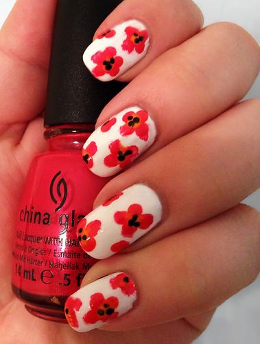 Poppy Nails by intraordinary