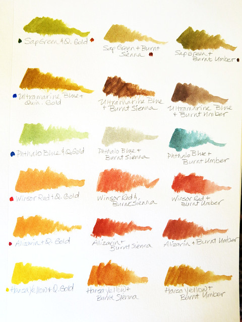 Watercolor MIxes - Part 1