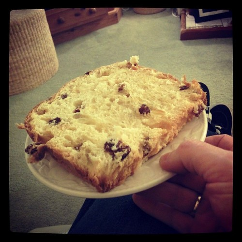 That is a large piece of panettone, or rather it was a large piece by South Downs MTB Skills