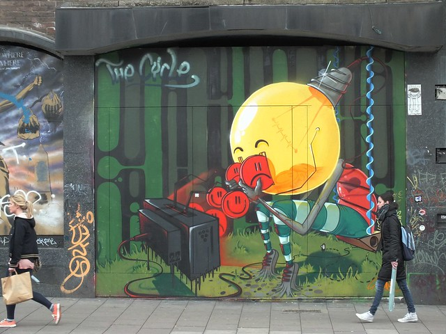 The Cycle by 3Dom, Street Art at Stokes Croft, Bristol