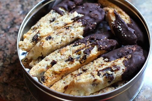 biscotti, packed up