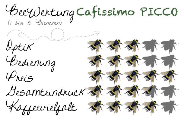 BeeWertung Cafissimo PICCO