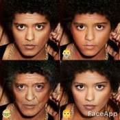 Bruno Mars - faceapp