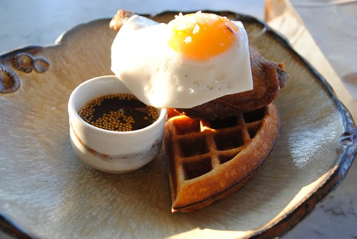 duck and waffle maple syrup