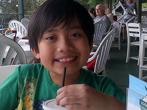Lake George: My little guy enjoying his lemonade