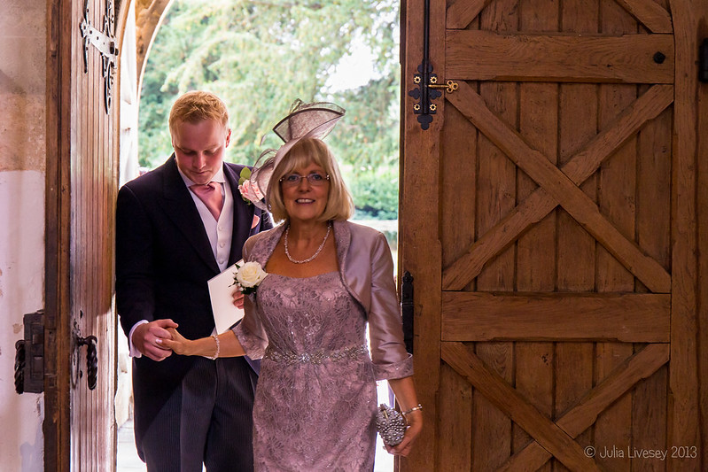 The Mother of the Bride makes an entrance