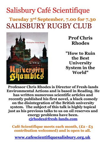 Poster for Prof Chris Rhodes