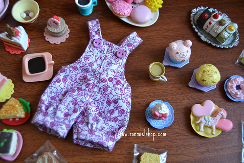 lilac overall for blythe doll by * Ronmiel *
