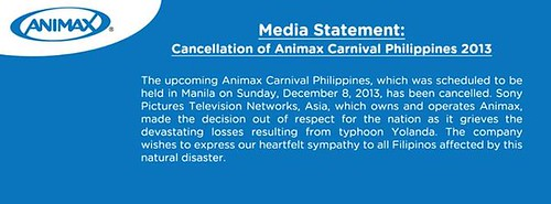 On Animax Carnival and Typhoon Yolanda: An Open Letter to Local Cosplayers and Anime Fans