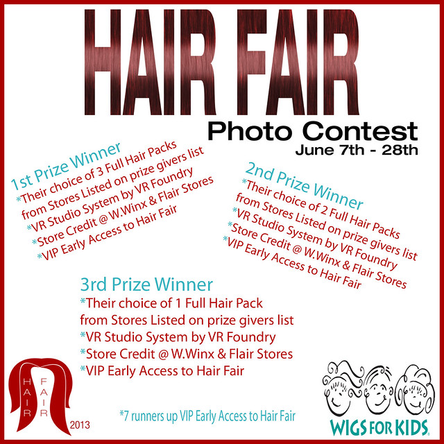 Hair Fair Photo Contest Prizes Poster