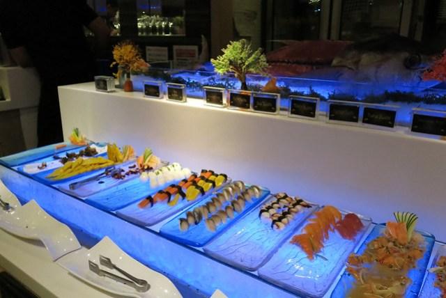 Sushi and Sashimi bar at Vikings