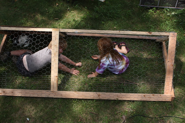 We've decided it's easier to just cage the children