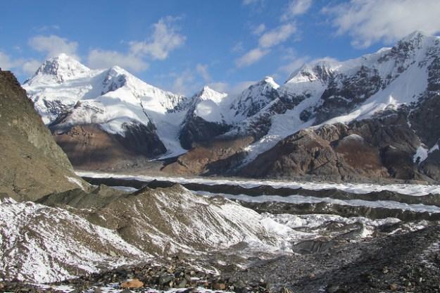 Camp Dikiy. South Inylchek Glacier Trek