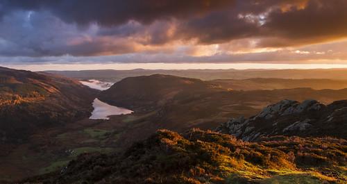 Dawn Breaks - Llyn Crafnant from Crimpiau