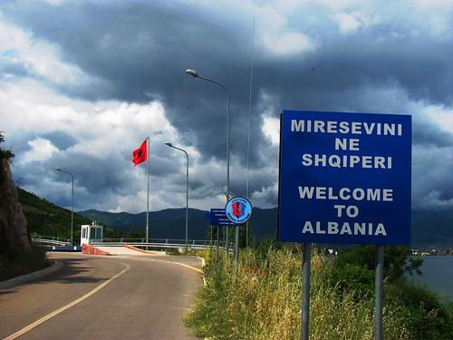Entering Albania
