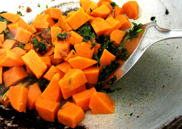 Add sweet potatoes