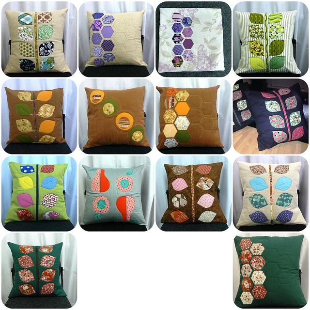 Applique cushions class Nov13