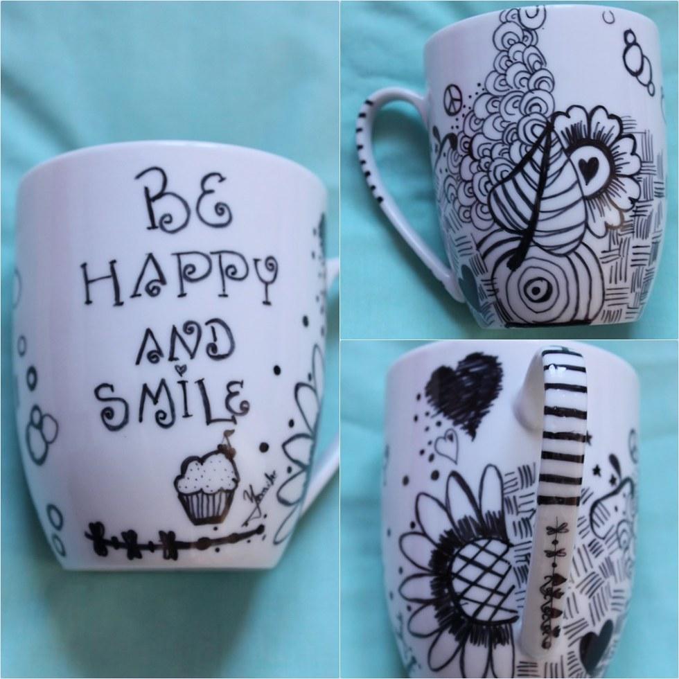tazas decoradas a mano