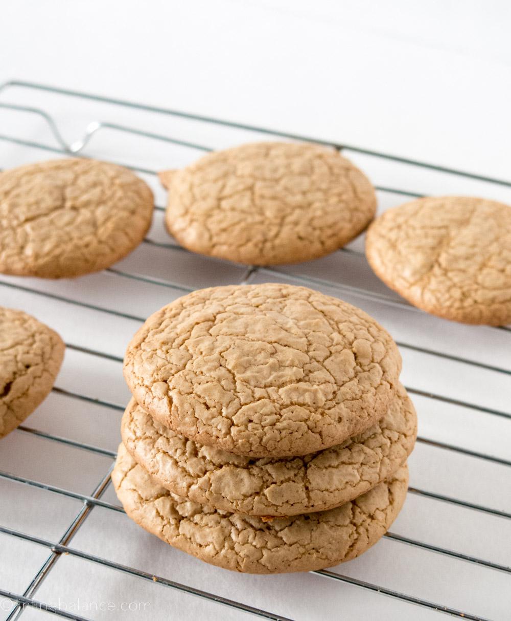 Peanut Butter Crinkle Cookies | www.infinebalance.com #gluten-free #recipe