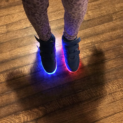Glowing Shoes by DJ Lanphier