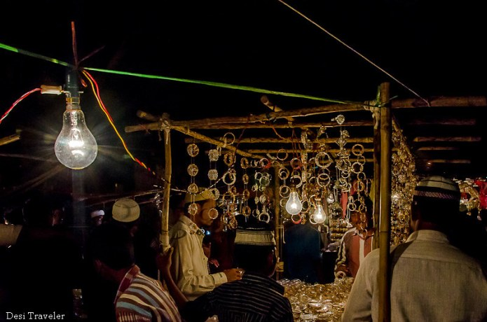 kiosk selling bangles ramadan night market