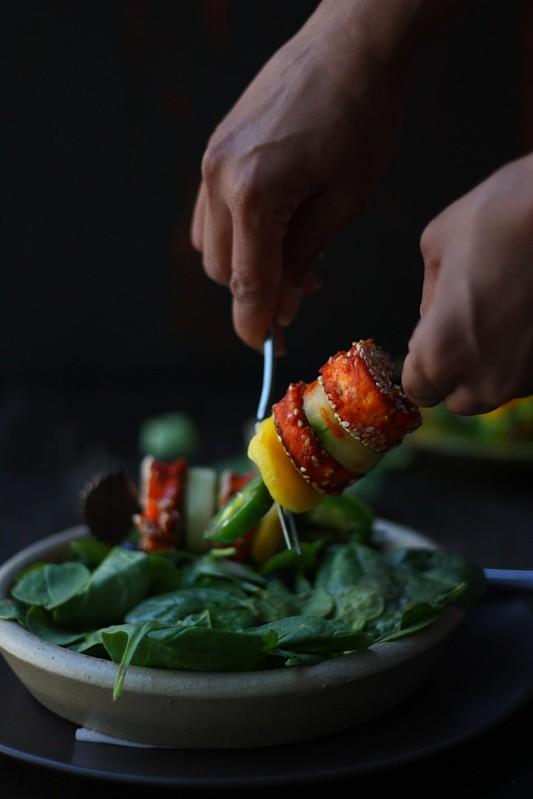 Chilli paneer kababs 2