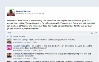 Weaver Ds Closing Announcement