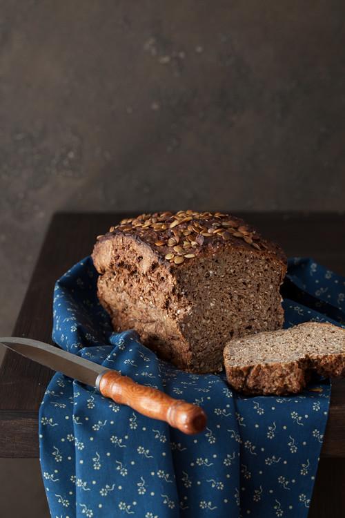 Pumpkin seeds bread 2