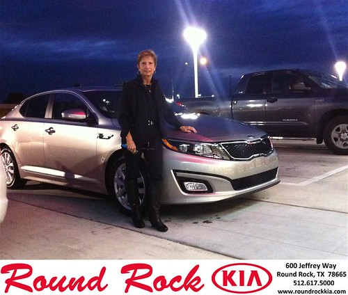 Thank you to Rita Friend on your new 2014 #Kia #Optima from Amir Mahboubi and everyone at Round Rock Kia! #NewCar by RoundRockKia