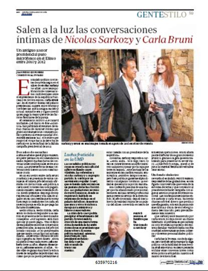 14c06 Escándalo grabaciones P Buisson Diálogo Sarko Bruni