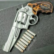 Smith & Wesson 627 8-shot .357 magnum  It comes with two styles of grips, but I like the wood  #GunChannels  #GunWebsites  #RevolverLife #SmithAndWessonRevolver #smithandwesson #Revolvers #357magnum #TooBadAboutTheLock