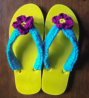 Freshly completed Flip Flops.