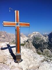 Toblinger Knoten, das Gipfelkreuz