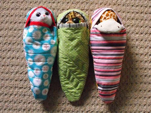 Stuffie sleeping bags