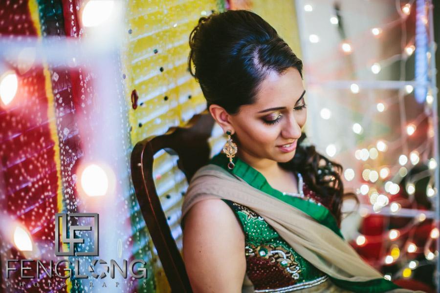 Ismaili bride on her mehndi night