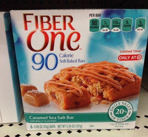 Fiber One Caramel Sea Salt Bar 90 Calorie Soft-Baked Bars