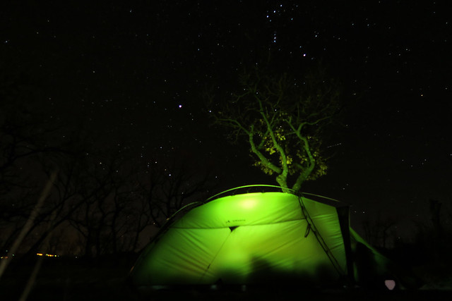 Stary night at Maslenica while camping