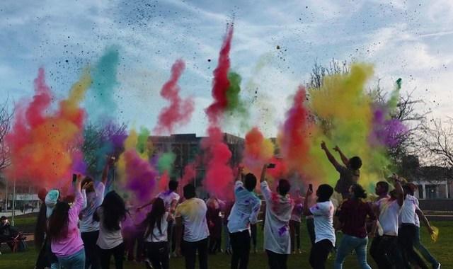 holi - a sky full of colours